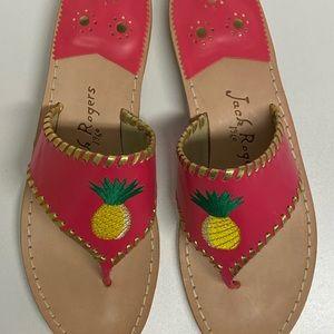 Jack Rogers Pineapple Sandals Fucshia size 11 NWT